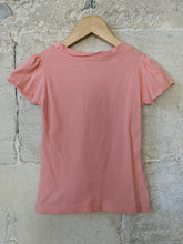 Load image into Gallery viewer, Lovely French Floaty Peach Girls Preloved T Shirt 5-6 Years