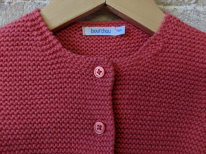 Adorable Bout'Chou Garter Stitch Cardigan - 6 Months