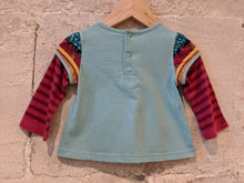 Load image into Gallery viewer, Beautiful Preloved Flower Top Stripes from French Designer Catimini 0-6 Months