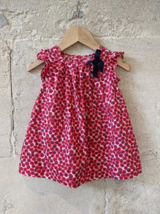 Beautiful Poppy Print Jacadi Dress - 6 Months