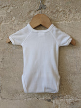 Load image into Gallery viewer, Gorgeous Petit Bateau Newborn Bunny Rabbit Vest Bodysuit Preloved Baby Clothes Sale