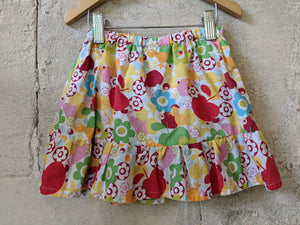 Fab French Preloved Flower & Bird Scandi DPAM Skirt Skort 1-2 Years