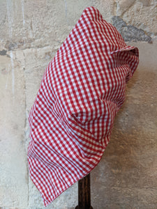 Red checked girl's head scarf baby 18 months Arthur et Felicie
