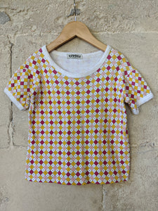 Geometric Geo 60s Kids Preloved Secondhand T Shirt Top 5 Years