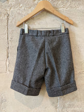 Load image into Gallery viewer, Vintage French Designer Sale Grey Woollen Shorts Fabulous 3-4 Years