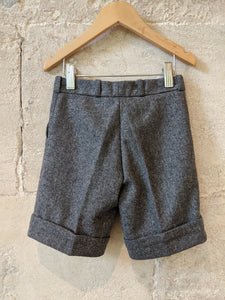 Vintage French Designer Sale Grey Woollen Shorts Fabulous 3-4 Years