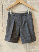 Load image into Gallery viewer, Vintage Grey Woollen School Shorts French Designer 3-4 Years