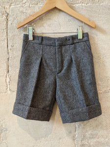 Vintage Grey Woollen School Shorts French Designer 3-4 Years