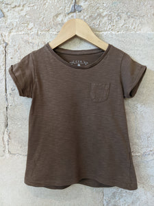 Second-hand-Brown-Girls-Tshirt-Child's-Age4-CFK-French-Designer-Sale