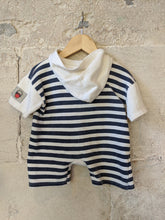 Load image into Gallery viewer, The Cutest Little Fisherman Vintage Hooded Romper 6 Months