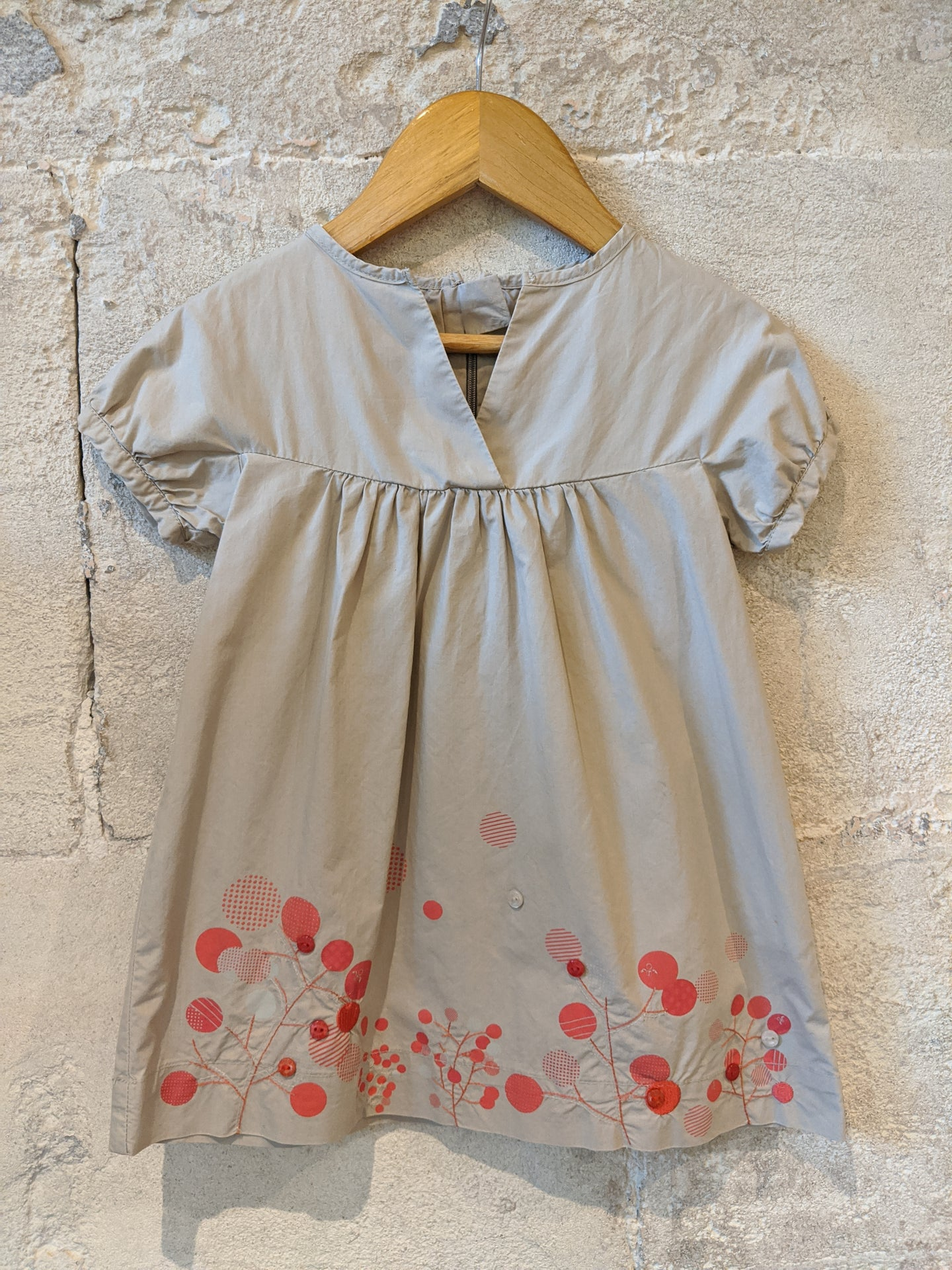 Beautifully Shaped A-Line Soft Coloured Dress 18 Months