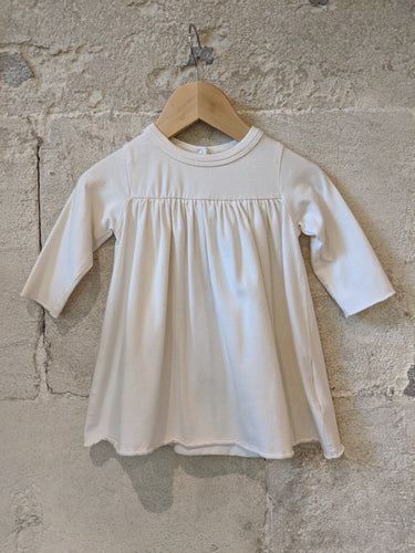 Beautiful baby A-Line French Designer DPAM Dress Soft Cream 0-6 Months