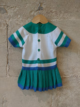 Load image into Gallery viewer, Amazing French Vintage Tennis Style Seaside Dress - 3 Months