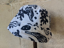 Load image into Gallery viewer, Preloved Baby Hat Vintage Terry Towelling Summer Preloved Blue Shells