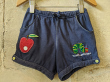 Load image into Gallery viewer, The Very Hungry Caterpillar Eric Carle Blue Navy Girls Shorts 3-4 Years