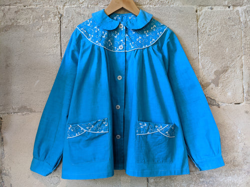 Vintage-preloved-blue-girl's-French-tunic