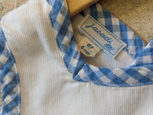 Load image into Gallery viewer, Designer Baby Clothes French Brand Jacadi Label Blue Checked Trim 67cm 6 Months