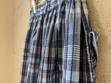 Load image into Gallery viewer, Beautiful Blue Plaid French Vintage Seersucker Skirt - 8 Years