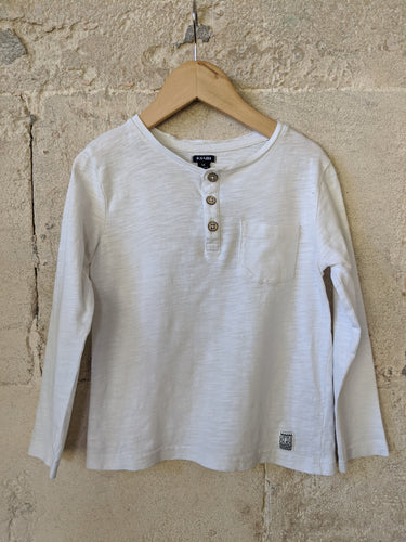 Secondhand Kids Top Preloved White Longsleeved 5 Years