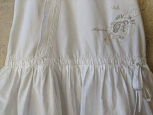 Load image into Gallery viewer, Sparkly Bird, Lace, Dropped Ruched Waitband, White Summer Dress 7-8 Years