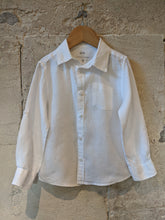 Load image into Gallery viewer, French Branad CFK Kids Preloved White Linen Shirt 3-4 Years