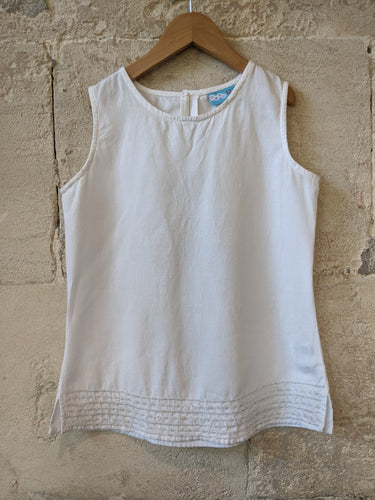 French White Girl's Linen Tunic 12 Years