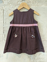 Load image into Gallery viewer, Sweet Sergent Major Chocolate Brown Rabbit Dress 18 Months