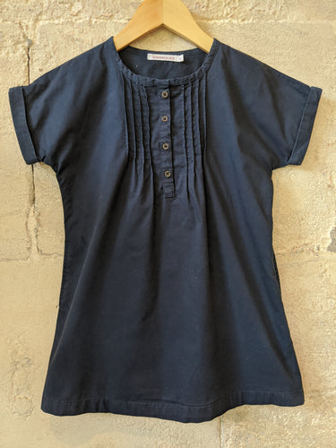 Preloved-quality-children's-clothes-designer-baby-second-hand-brands-summer-Tunic-Dress-blue-5yrs