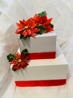 Edible Christmas Flower Poinsettia Wafer Paper Toppers