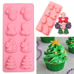 christmas tree decorations Party DIY fondant baking cooking cake decorating tools silicone mold cake kitchen decorating DIY tool