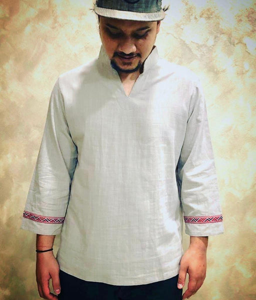 Casual V-Neck 3/4 Sleeve Kurta