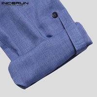 Blue Kurta Foldable Long Sleeve