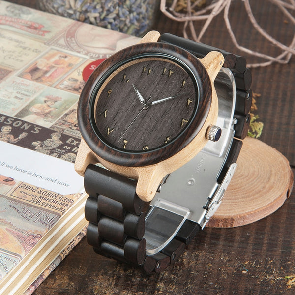Premium Vintage Wooden Arabic Watch