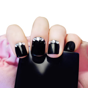 24pcs Rhinestone Decoration  Nails