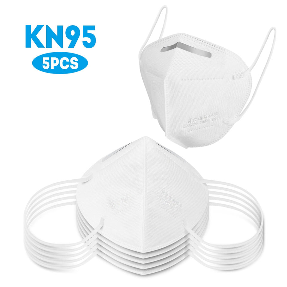 5PCS KN95  Face Masks With Elastic Ear Loop