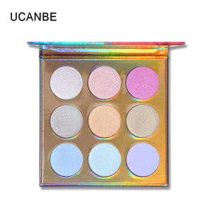 Rainbow 9 Colors Highlighters Palette