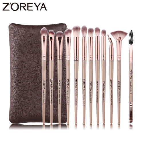 ZOREYA 12pcs professional Makeup Brushes