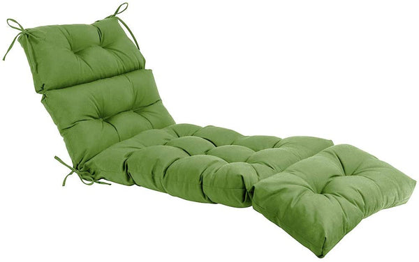 QILLOWAY Indoor/Outdoor Chaise Lounge Cushion,Spring/Summer Seasonal Replacement Cushions. (Dark Green)
