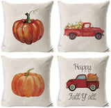 INSHERE Rustic Farmhouse Funny Red Cardinal Bird Art Throw Pillow Cover Cotton Linen Decorative Cushion Covers Pillowcase Cushion Case for Sofa Bedroom Car 18 x 18 Inch 45 x 45 cm (Cardinal-2pcs)