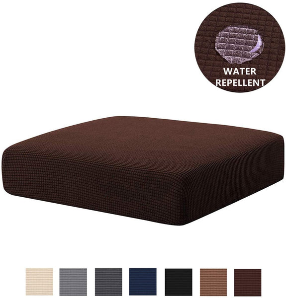 NC HOME Sofa Cushion Covers Waterproof Stretch Spandex Furniture Protector Slip Cover for Sofa Seat with Elastic Bottom (Loveseat Cushion, Chocolate)