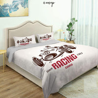 Homenon 3 Piece Queen/King Size Bedroom Decor Vintage Vehicles on The Road Driving Cars with Various Quilts Cover with 2 Pillow Cover for Children Teen Boy Adult Beding Set (Queen)