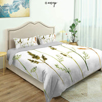 Homenon Modern Quilt Cover Bedding Set Vintage Japanese Garden Flourishing Sakura Cherry Cotton Quilt Cover and 2 Pillowcases Bedding 3 Piece Duvet Cover Set (Queen)