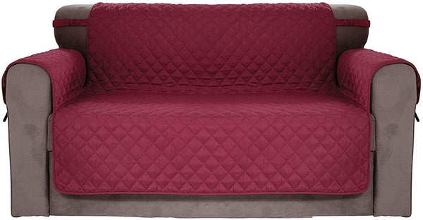 Chiara Rose Waterproof Couch Covers for Dogs Sofa Cushion Slipcover 2 Seater Furniture Protectors, Loveseat, Burgundy