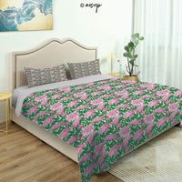 Homenon 3 Piece Queen/King Size Bedroom Decor Damask Pattern Inspired Vintage Style Retro Blomed Quilts Cover with 2 Pillow Cover for Children Teen Boy Adult Beding Set (King)