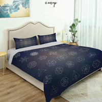 Homenon Modern Quilt Cover Bedding Set Vintage Rope Pattern Nautical Inspired Design Elements Vertical Cotton Quilt Cover and 2 Pillowcases Bedding 3 Piece Duvet Cover Set (Queen)