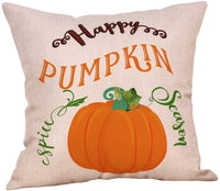 4 Pack Let's Fall in Love Quotes Throw Pillow Case Truck with Pumpkins Halloween Thanksgiving Cushion Cover 18 x 18 Inch Cotton Linen Autumn Farmhouse Decor (Fall in Love)