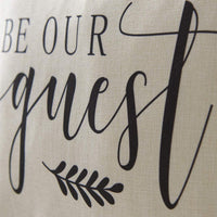 Meekio Farmhouse Pillow Covers with Be Our Guest 18 x 18 Inch for Farmhouse Guest Room Decor