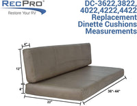 "RecPro Charles RV Dinette Booth Cushions with Memory Foam Camper Trailer Bed (Chestnut, 38"")"