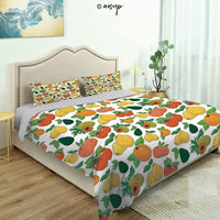Homenon 3 Piece Bedding Set 3D Printed Quilts Cover with 2 Pillow Cover, Vintage Nostalgic Drawing of Aromatic Exotic Flavor Flower Queen/King Size Bedding Sets (King)