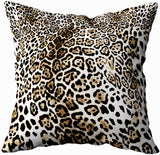 TOMWISH 2 Packs Hidden Zippered Pillowcase Christmas Cowhide Accent 18X18Inch,Decorative Throw Custom Cotton Pillow Case Cushion Cover for Home